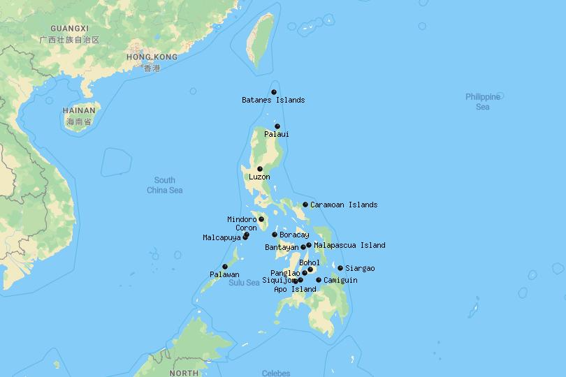 Islands in the Philippines Map
