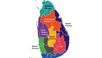 Provinces in Sri Lanka Map
