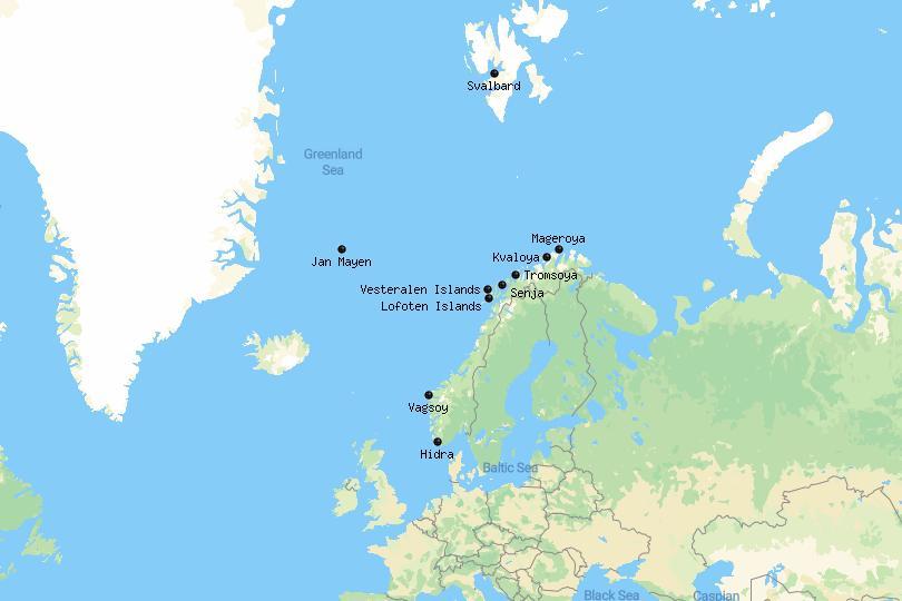 Norwegian Islands Map