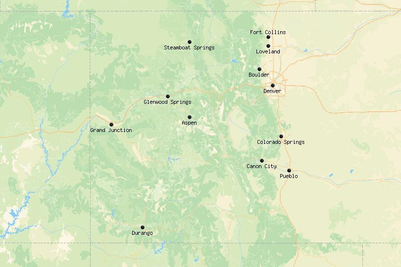 Colorado Cities Map