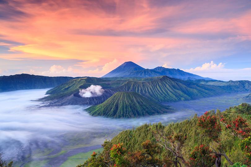 # 1 de volcanes en Indonesia