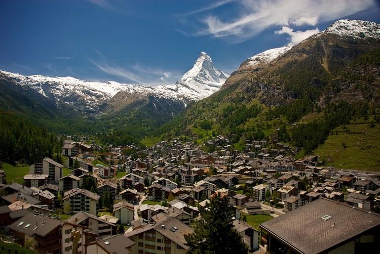 # 1 de pequeñas ciudades en Suiza