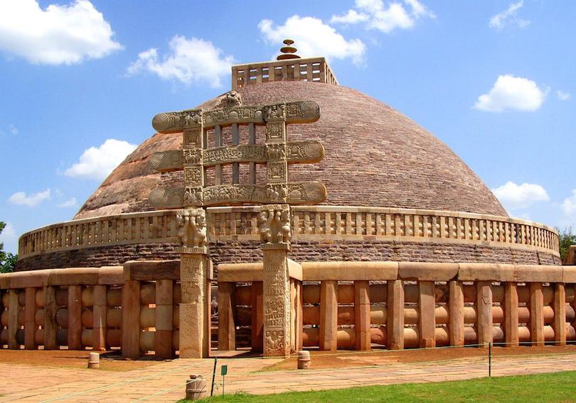 Gran estupa en Sanchi