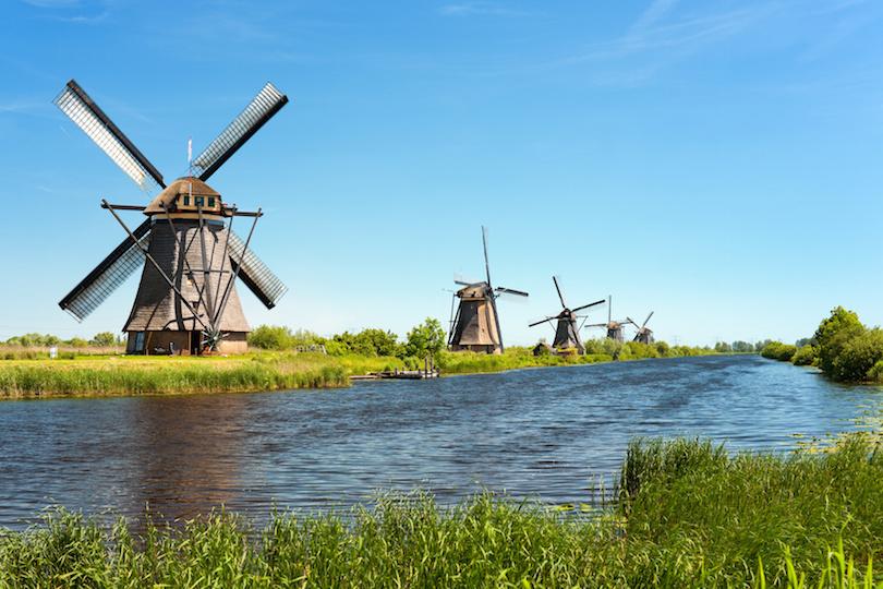 # 1 de grupos de famosos molinos de viento antiguos