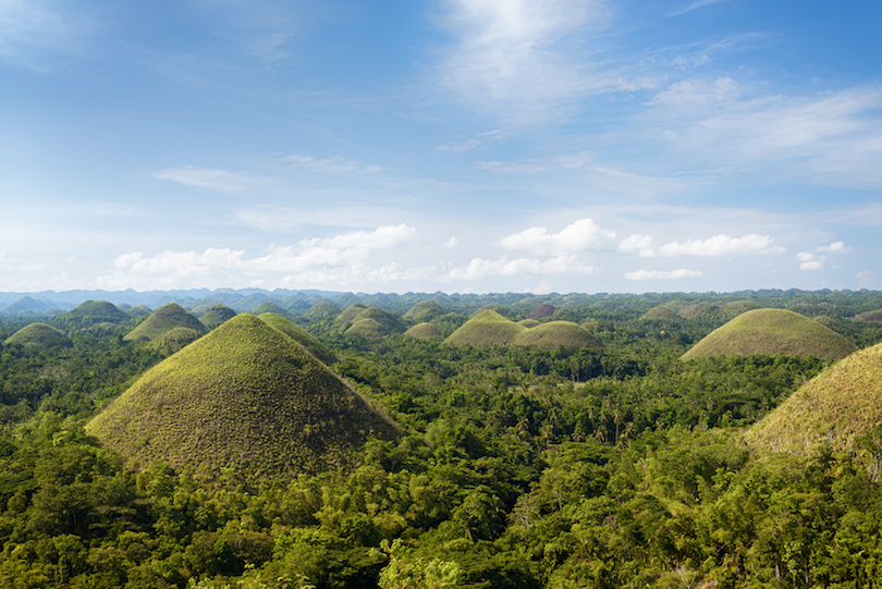 One Of The Top Tourist Attractions In Philippines Chocolate Hills Are Unusual Geological Formations That Consists At Least 1 268 Individual