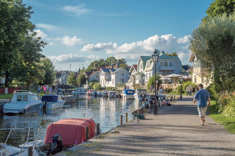 # 1 de pequeñas ciudades en Suecia