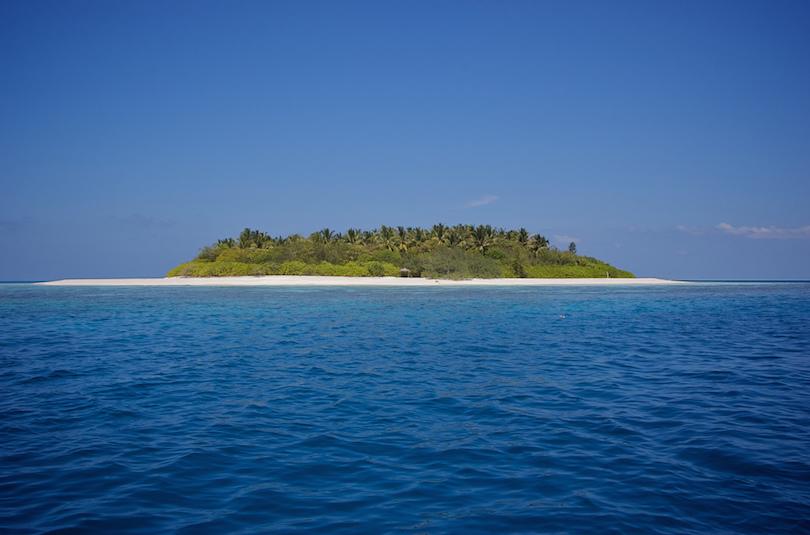 Islas del desierto de Maldivas
